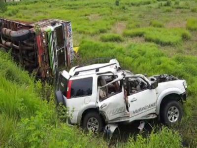 کلبرگی: سڑک حادثہ میں ایک ہی خاندان کے 7؍افراد ہلاک