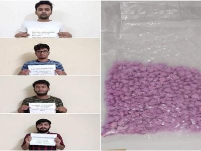 منشیات مخالف مہم:اڈپی میں ایم ڈی ایم اےگولیاں فروخت کرنے کے الزام میں این سی بی نے کیا چارافراد کو گرفتار