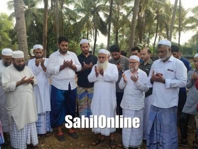 Bhatkal: Qazi Jamaatul Muslimeen Maulana Abdur Rab Nadvi lays foundation stone for Masjid-e-Sahaba