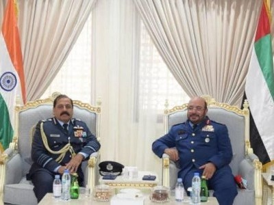 IAF chief meets his UAE counterpart, discusses measures to strengthen ties between two forces