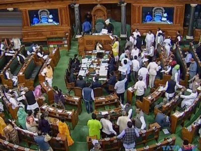 Lok Sabha adjourned for the day; two bills introduced amid Opposition ruckus