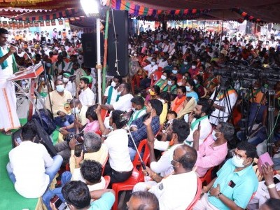TN BJP stages protest, asks Karnataka to drop move to build Mekedatu dam