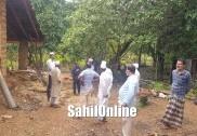 بھٹکل تنظیم وفد کا کمٹہ    اور اطراف  کے سیلاب زدہ علاقوں کا دورہ؛  متاثرین میں  را شن کٹس تقسیم