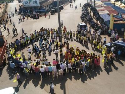 سرسی ضلع کی تشکیل کا مطالبہ لے کرسرسی بندکامیاب:دکانیں ،ہوٹل سبھی بند