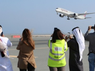 First Qatar to Saudi flight to take off after thaw