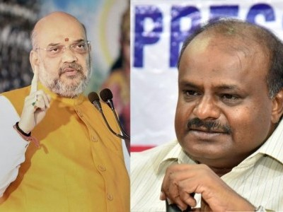 Kumaraswamy accuses Amit Shah of ignoring Kannada