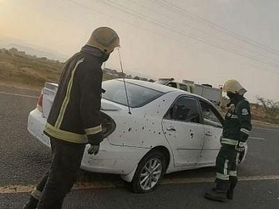 حوثیوں کے راکٹ حملے میں دو بچوں سمیت تین شہری زخمی