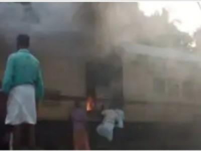 منگلورو ۔ تروننت پور ایکسپرس ٹرین میں لگی آگ : کوئی نقصان نہیں