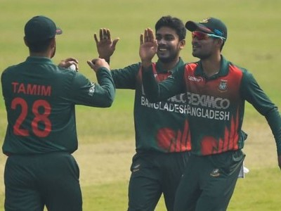 Bangladesh clinches 3-match series, beats West Indies again