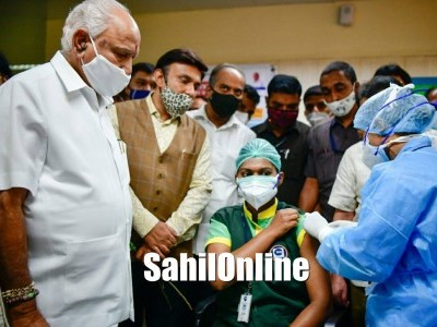 Over two lakh healthcare workers vaccinated against COVID-19 in Karnataka