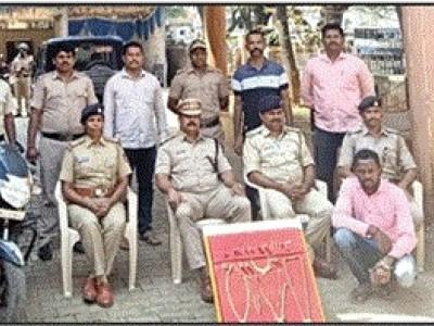 ڈانڈیلی میں چوری کی واردات : پولس کی بروقت کاروائی  کے بعد ملزم گرفتار، زیورات برآمد