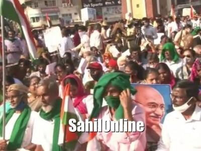ದೆಹಲಿ ಪ್ರತಿಭಟನೆಗೆ ಮಂಗಳೂರಿನಲ್ಲಿ ಬೆಂಬಲ.