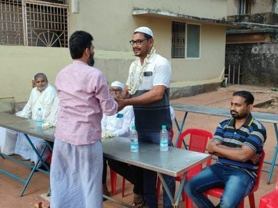 Management of Masjid Abubakar Siddique felicitates newly elected Heble Panchayat members in Bhatkal