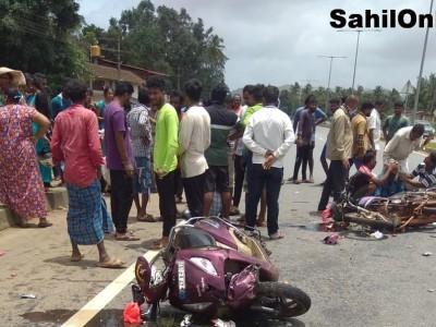 3 injured in two two-wheeler collision on Kumta NH-66