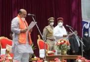 بسوراج بومئی   کرناٹک کے 30ویں وزیراعلی ؛گورنر تاور چند گہلوٹ نے  دلایاعہدہ کی راز داری کا حلف