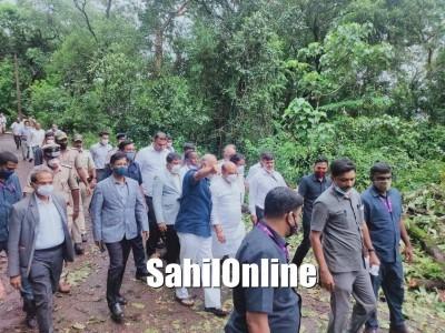 CM Bommai visits flood-hit Uttara Kannada