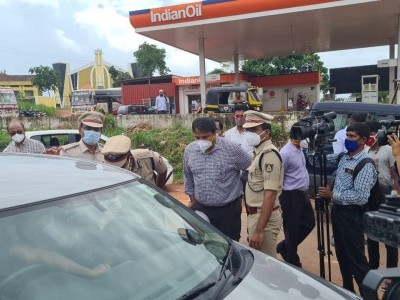 DK deputy commissioner, city police chief visit Talapady