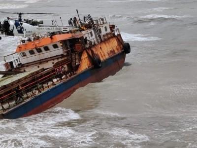 Coast Guard rescues crew of sinking ship off Raigad coast in Maharashtra