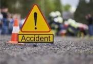 منگلورو: چاول سے لدا ٹرک کمپاونڈ سے ٹکرایا۔ ڈرائیور اور کلینر زخمی