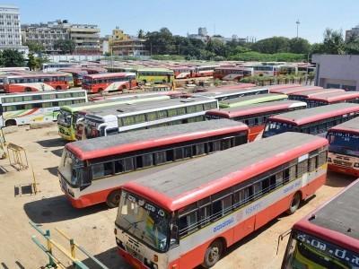 2؍مارچ سے دوبارہ بس ہڑتال کا اندیشہ،ٹرانسپورٹ ملازمین یونین کی طرف سے بنگلورو کے فریڈم پارک میں احتجاج