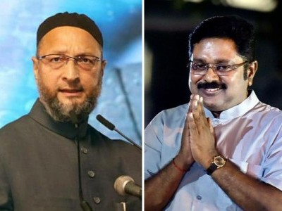 Tamil Nadu Polls: Owaisi's AIMIM forms alliance with Dhinakaran's AMMK
