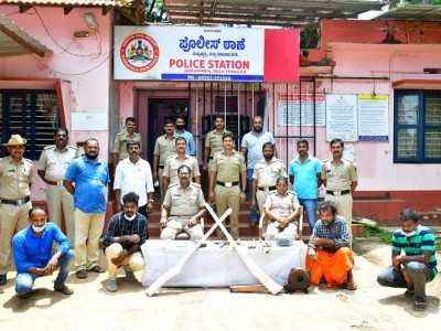 Sullia : Four arrested on charges of possession of firearms illegally