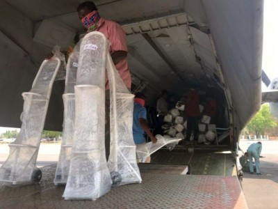 Air India airlifts 35 tonnes of zeolite used in oxygen production plants from Rome to Bengaluru