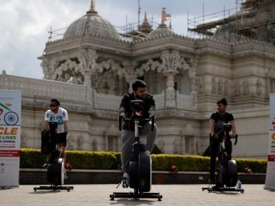 'London to Delhi' static relay bikeathon raises cash for India's COVID crisis