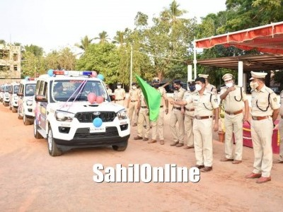 Uttara Kannada District Police launch ERSS112 emergency vehicles in Karwar