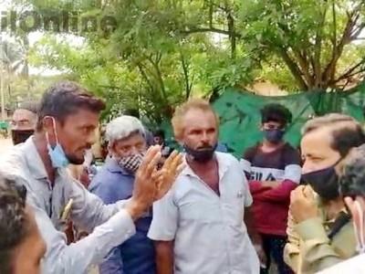 بھٹکل: حنیف آباد میں پنچایت کی طرف سے کچرا ٹھکانے لگانے کی کوشش پر مقامی لوگوں نے جتایا اعتراض