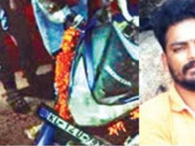 منگلورو: دسہرہ کی وداعی تقریب کے بعد گاؤ ں لوٹ رہے دو بائک سوار سڑک حادثے میں ہلاک