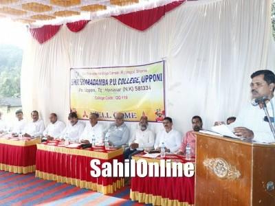 Honnavar: Toppers of Shri Sharadamba PU College Upponi felicitated