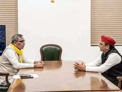 سماج وادی پارٹی اور راجبھر کی سہیل دیو پارٹی کے درمیان اتحاد