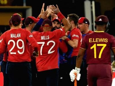 ٹی-20 عالمی کپ: انگلینڈ کے گیند بازوں کا کمال، ویسٹ انڈیز کو 6 وکٹ سے شکست دے کر فاتحانہ آغاز