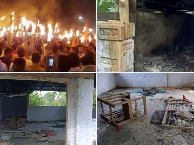 ہندوتوا وادی مظاہرین کے ہاتھوں تریپورہ کی 16 مساجد میں توڑ پھوڑ، 3 مساجد نذر آتش
