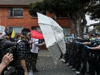 آسٹریلیا میں لاک ڈاؤن کی زبردست مخالفت، 270 مظاہرین گرفتار