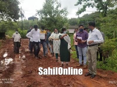 Bhatkal: Zilla Panchayat Chief Executive Officer Smt. Priyanga M visited various Gram Panchayats